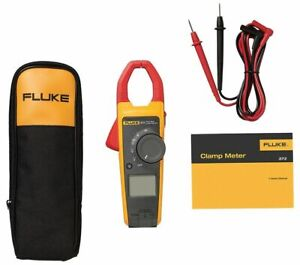 Fluke 373 True rms trms Current Clamp Meter 600a Ac 600v Ac dc
