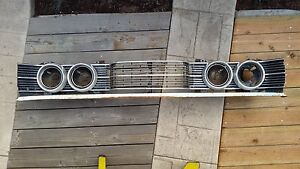 1968 Mercury Montego Grill And Headlight Assembly