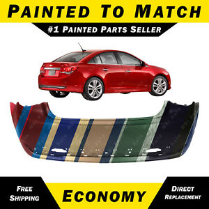 New Painted To Match Rear Bumper Cover For 2011 2015 Chevy Chevrolet Cruze Rs
