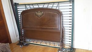 2 Matching Vintage 1900 1920 1930 Antique Metal Beds With Springs Simmons