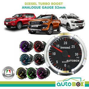 Autotecnica 0 30 Psi Diesel Turbo Boost 52mm Black Face Electronic Analog Gauge