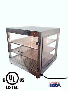 Commercial Food Warmer Heatmax 24x24x24 Up To 20 large Pizza Heated Display Case