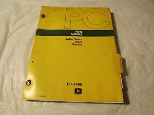 John Deere _parts Catalog 8630 Tractor_ Pc 1486_vintage Original_very Good