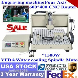 Cnc 6040 Router Engraver 4 Axis Machine Drilling Milling 3d Cutter 1 5kw Vfd Usa