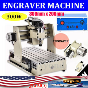 Cnc 3020 Router Engraver Engraving Machine 4 Axis Drilling milling Machine 300w