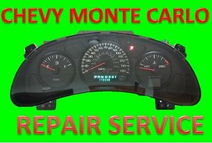 Repair Service For 2000 2005 00 05 Chevy Monte Carlo Instrument Panel Cluster