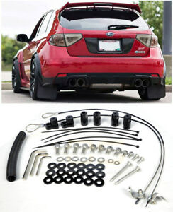 For 08 14 Subaru Wrx Sti Hatchback Jdm Rear Roof Wing Spoiler Riser Extension