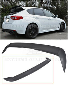 For 08 14 Subaru Wrx Sti Add on Rear Roof Wing Spoiler Gurney Flap Extension