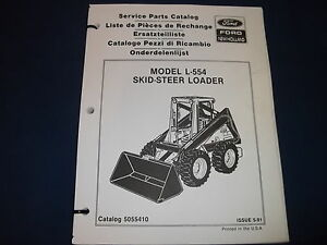 New Holland L 554 Skid Steer Loader Parts Book Manual