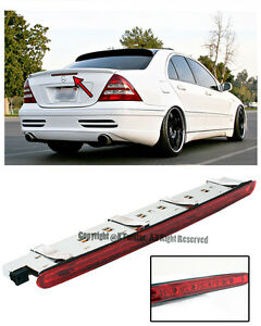 For 01 07 Mb W203 C class Rear Trunk Replacement Red Led Third Stop Brake Light