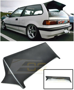 For 88 91 Honda Civic Ef9 Hatch 3dr J Style Rear Roof Spoiler Wing Lip Kit Jdm