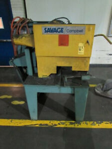 Abrasive Metal Cutting Friction Saw 20 Blade Savage Cambell 10hp Mdl 2b