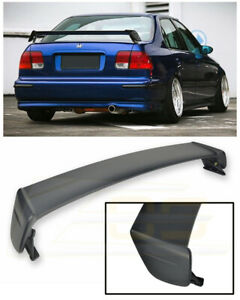 For 96 00 Honda Civic Ek Sedan Abs Plastic Mugen Style Rear Trunk Wing Spoiler