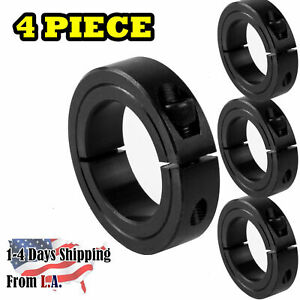 3 4 Bore Single Split Shaft Collar Black Oxide Set Screw Style 4 Pcs