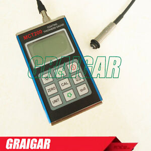 Mct200 Paint Coating Thickness Gauge 0 1250um Magnetic Induction