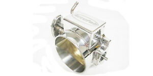 Accufab 105mm Chevy Ls1 Lsx Throttle Body For Fast Intake Polished Clamshell