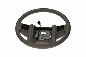 08 10 Ford F250 F350 Super Duty Leather Steering Wheel Stone Gray Oem 7c3z3600ca