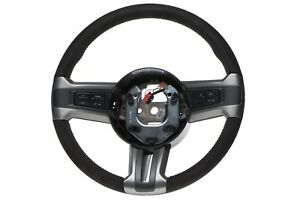 Oem New Suede Leather Steering Wheel Cruise Music Control Mustang Cr3z 3600 aa