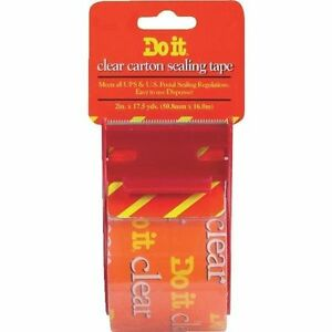 24 Pack 2 X 17 5 Yd Clear Packing Tape With Dispenser Free Shipping
