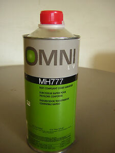 Ppg Omni Mh777 Qt 32 Oz Fast Compliant Clear Hardner For Omni Mc770 Clear Coat