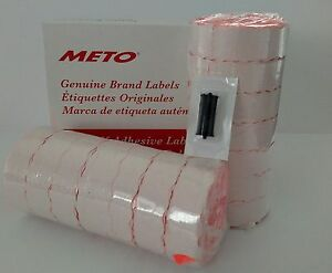 Meto Labels 2200 2 To Suit Priceguns13 22 And 15 22 Box Red Free Ink Roller