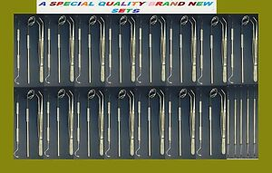 51 Professional Instruments Basic Dental Set Mirror Explorer Plier Stainless
