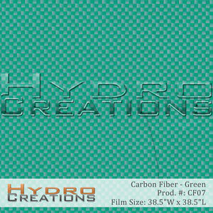 Hydrographic Film Hydro Dipping Water Transfer Green Carbon Fiber 38 5 X 38 5