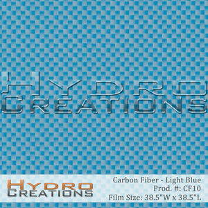 Hydrographic Film Hydro Dipping Water Transfer Film Carbon Fiber Light Blue