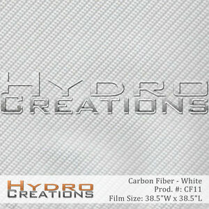 Hydrographic Film Hydro Dipping Water Transfer White Carbon Fiber 38 5 X 38 5