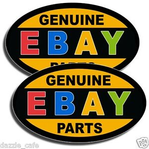 Genuine Ebay Parts 2 Stickers Auto Part Car Mechanic Repair Rebuild 2 Decals