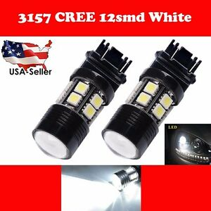 10x 3157 3156 White 6000k High Power 7w Back Up Reverse Projector Led Light Bulb