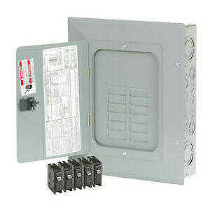 New 125 amp 12 space 24 circuit Br Main lug Load breaker Indoor Electrical panel