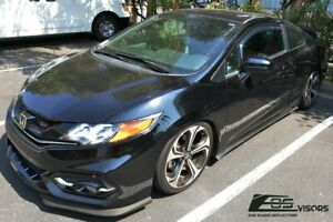 Eos Visors Jdm In channel Side Window Deflectors For 12 15 Honda Civic 2dr Coupe