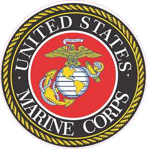 Usmc Marines Decal Sticker Veteran Military Car Truck Window Laptop 5 Sizes