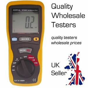 Amecal St 5302 Portable Milliohm Meter Low Resistance Digital Tester