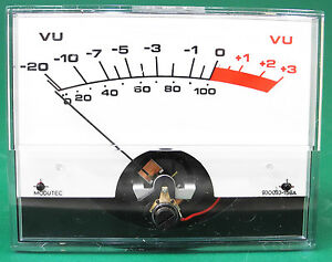 Modutec 930033 156a 3 75 X 2 7 8 Standard Ac Vu Meter Tested Guaranteed Vu