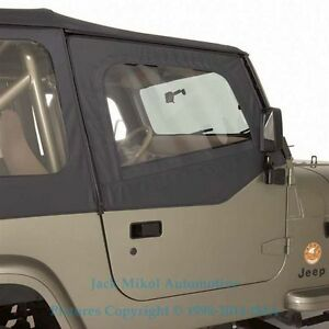 88 95 Replacement Soft Top Upper Doors For Jeep Wrangler Tinted Windows