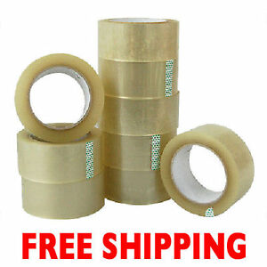 6 3 X 110yd 330 2 Mil Clear Packing Shipping Tape Rolls free Shipping