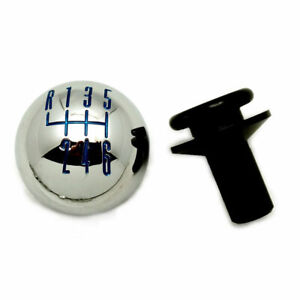 2011 14 Ford Mustang Chrome Billet 6 speed Shift Knob W Retainer Blue Pattern