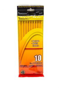 Pencils No 2 Hang Bag 10pk 1723