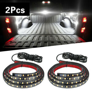 2x 60 For Chevy Ford Dodge Gmc Led Bar Truck Bed Cargo Work Lighting Strips Kit