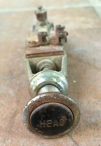 Vintage Ford model T head labeled lamp Switch Old Truck hot Rod rat