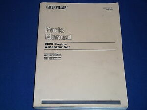 Cat Caterpillar 3208 Generator Engine Set Parts Book Manual S n 30a210 5099