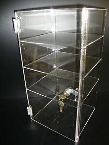 Acrylic Countertop Display Case 9 1 2 X 9 1 2 X 19 Locking Security Show Case