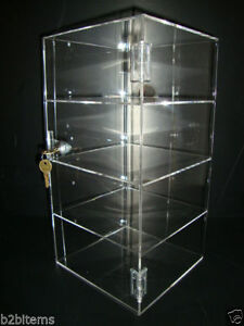 Acrylic Countertop Display Case 8 X 8 X 16 Locking Security Show Case Safe B
