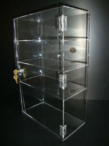 Acrylic Countertop Display Case 12 X 6 X 19 Locking Security Show Case Safe B