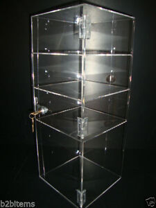 Acrylic Countertop Display Case 8 X 8 X 19 Locking Security Show Case Safe B