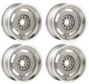 Corvette Rally Wheels 17x8 17 Set Of 4 Silver Powdercoated 4 5 Backspacing