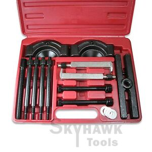 14pc Gear Puller And Bearing Separator Splitter Remover Set With Blow Mold Case