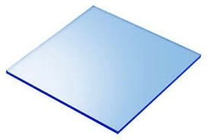 Blue Fluorescent Acrylic Plexiglass Sheet 1 8 X 24 X 24 9092